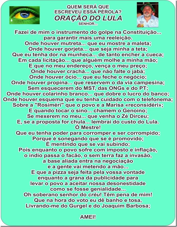 Oração do Lula - repassando